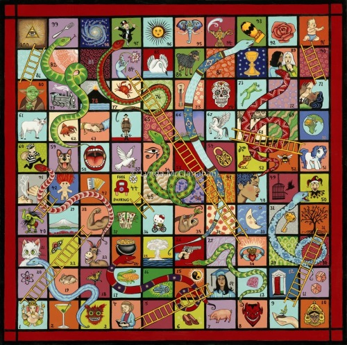 Snakes and Ladders: the Game of Life