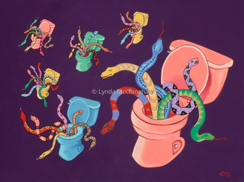 Toilet with Snakes