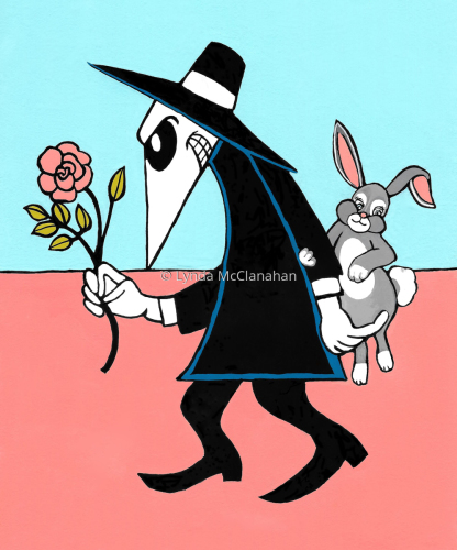 Black Spy With Rabbit