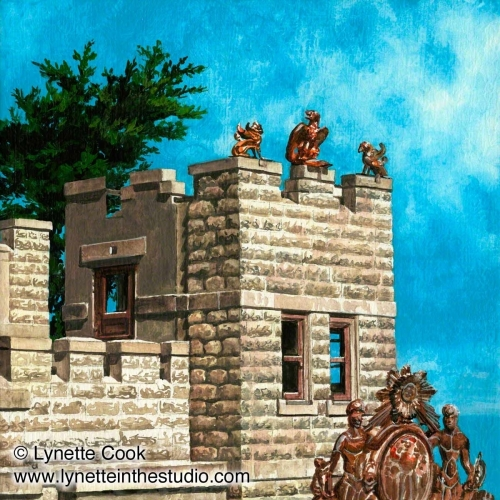 Painting--Acrylic-CityscapeSam's Castle
