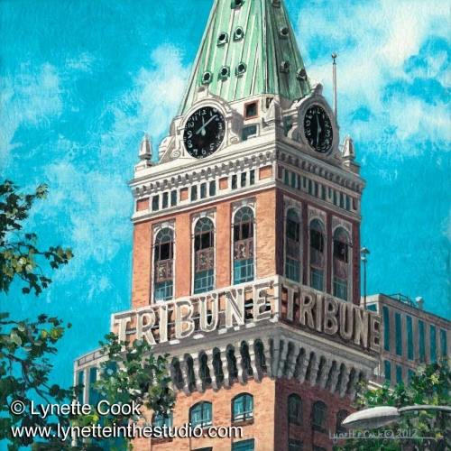Painting--Acrylic-CityscapeStill Towering