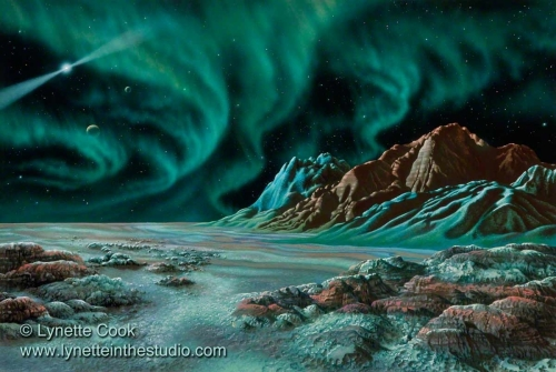 Pulsar Planets I artwork by Lynette Cook (large view)