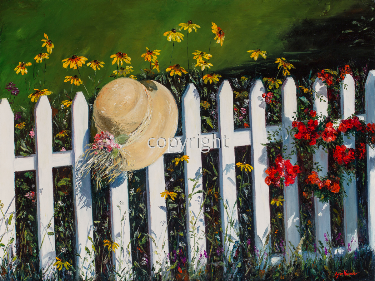Artist Hat on Fence (large view)