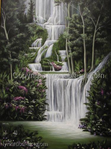 """""""Fairy Falls"""" by lynnruoff-art.com"""