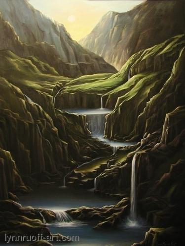 """Enchanted Valley"" by lynnruoff-art.com"