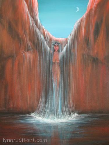 """""""Navajo Falls"""" by lynnruoff-art.com"""