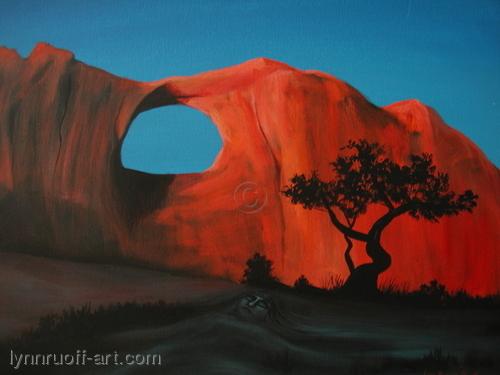 """Virgin of the Rocks"" by lynnruoff-art.com"