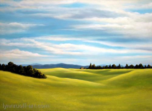 """""""Spring Meadow"""" by lynnruoff-art.com"""