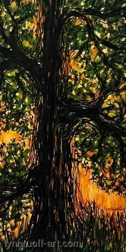 """Tall Oak"" by lynnruoff-art.com"