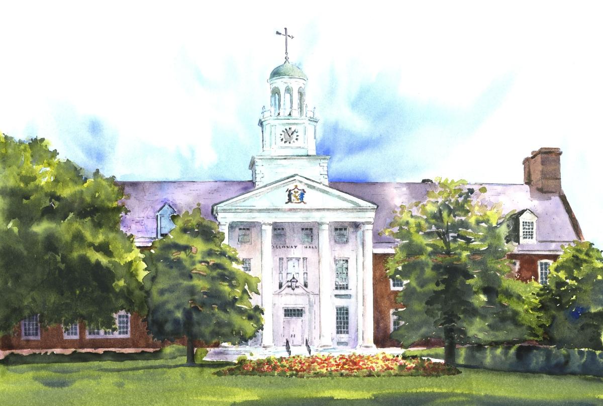 Holloway Hall, Salisbury State University, Giclee Print (large view)