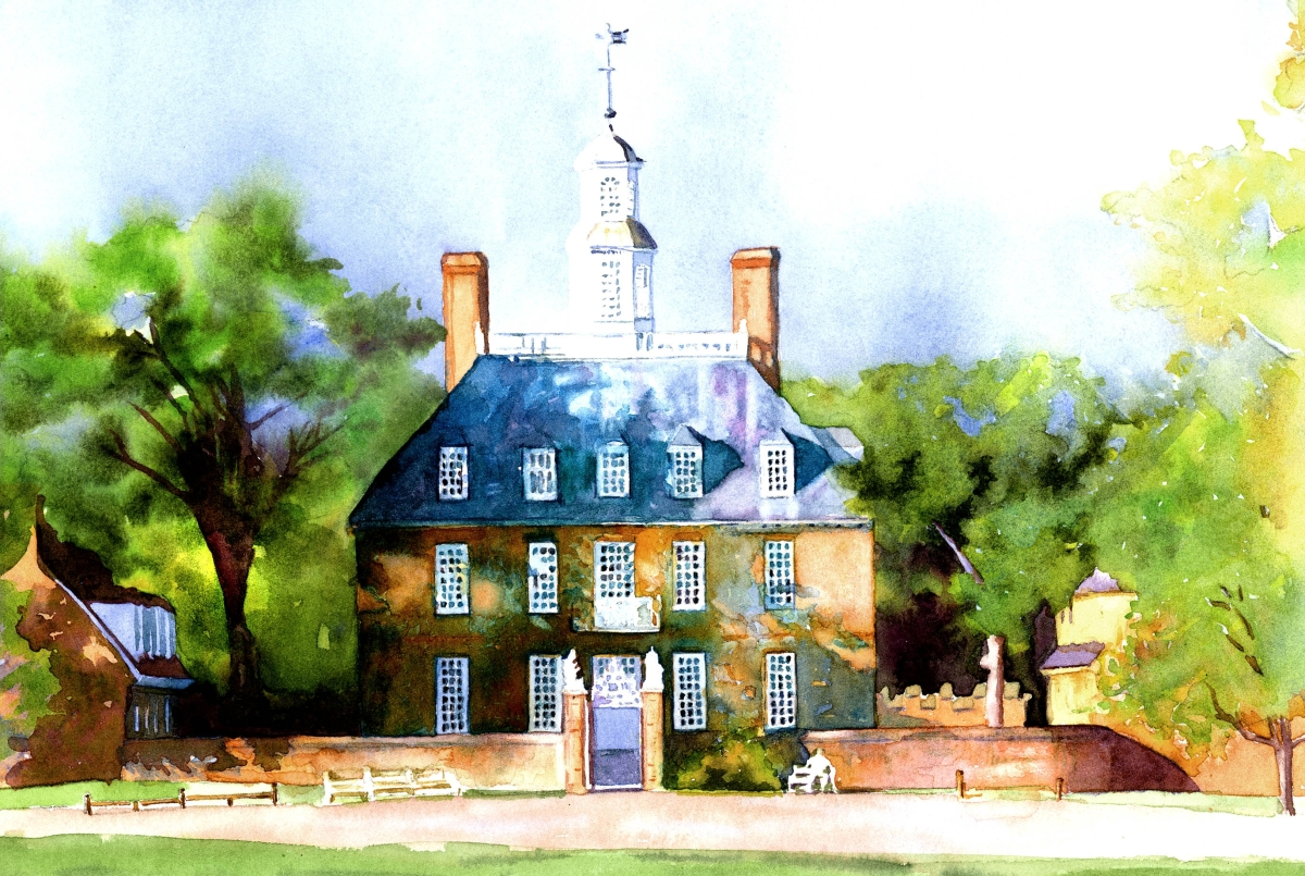 Governor's Palace, Colonial Williamsburg (large view)