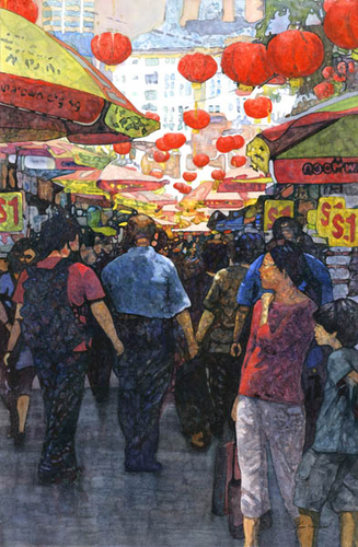 Chinese Market, Singapore by Lynn Hosegood Studio