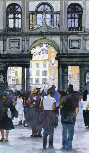 Piazza degli Uffizi, Florence, Italy by Lynn Hosegood Studio
