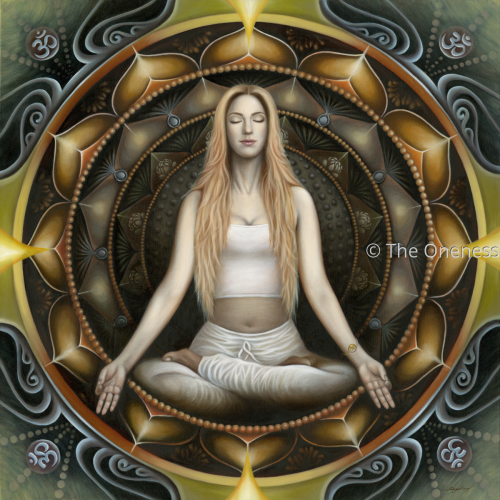 The Mandala Lady in Meditation