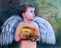 angel,innocence,child,exposure,violence,purity,sin,protection,children,spiritual,religious,protective,minors,worldly,childhood,pain - Figurative Drawing