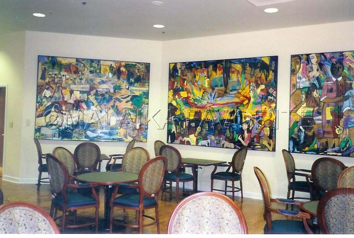 Mixed media harriet g darnell dining room paintings for Large paintings for dining room
