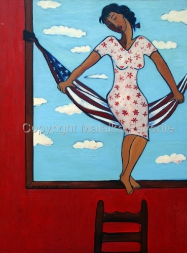 THE SWING IN THE RED ROOM by Malaika Favorite