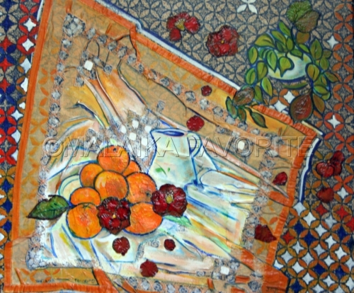 ORANGE WITH ORANGES by Malaika Favorite