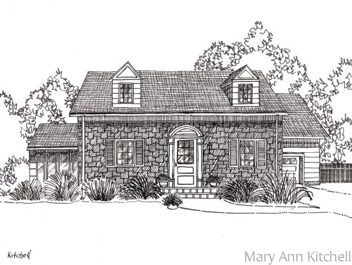 Original Ink home portrait sample:  18 Cottage Place
