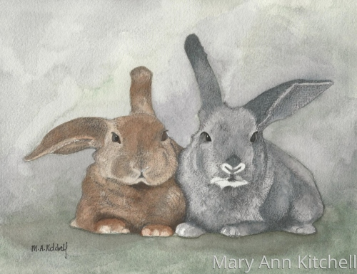 Some Bunny Luvs Me (print) by KitchellStudio:  Custom House and Pet Portraits by Maryann Kitchell