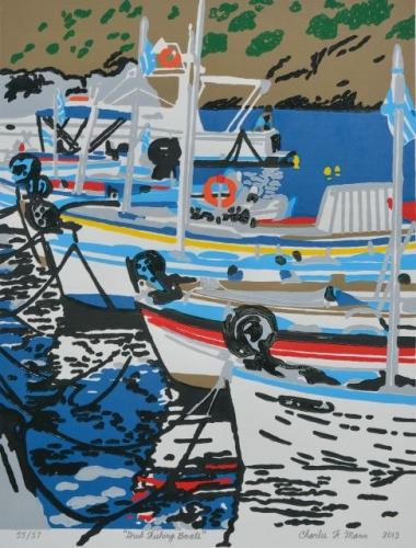 Greek Fishing Boats by Charles F. Mann