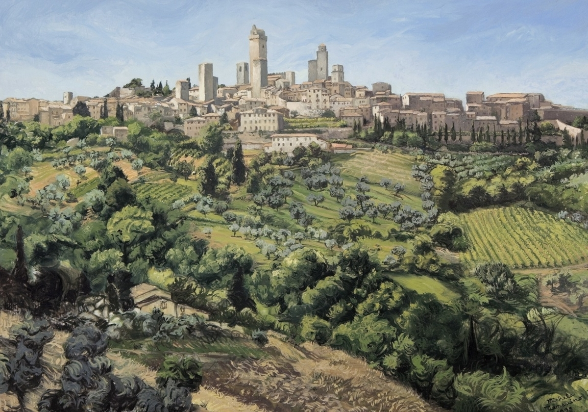 View Of San Gimignano, 1998 (large view)