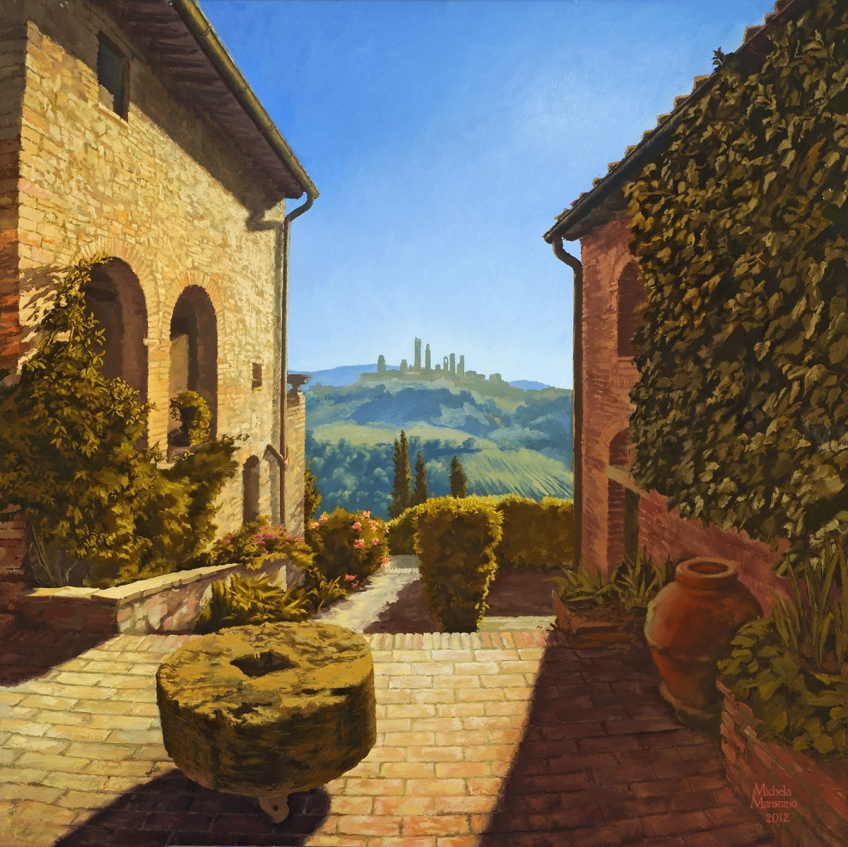 Let Us Contemplate Montagnana's View Of San Gimignano and The Message It Conveys (large view)