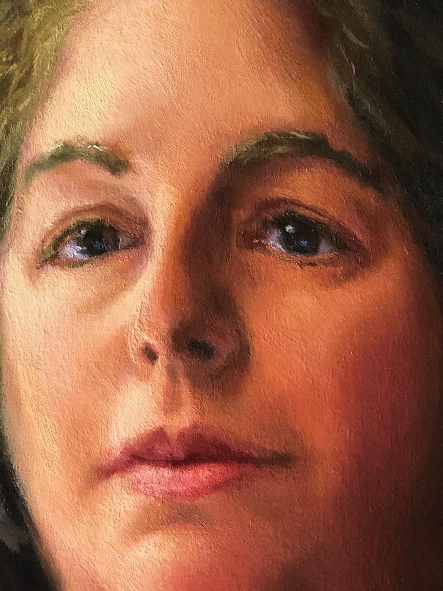 Detail of Elizabeth Alberding portrait (large view)