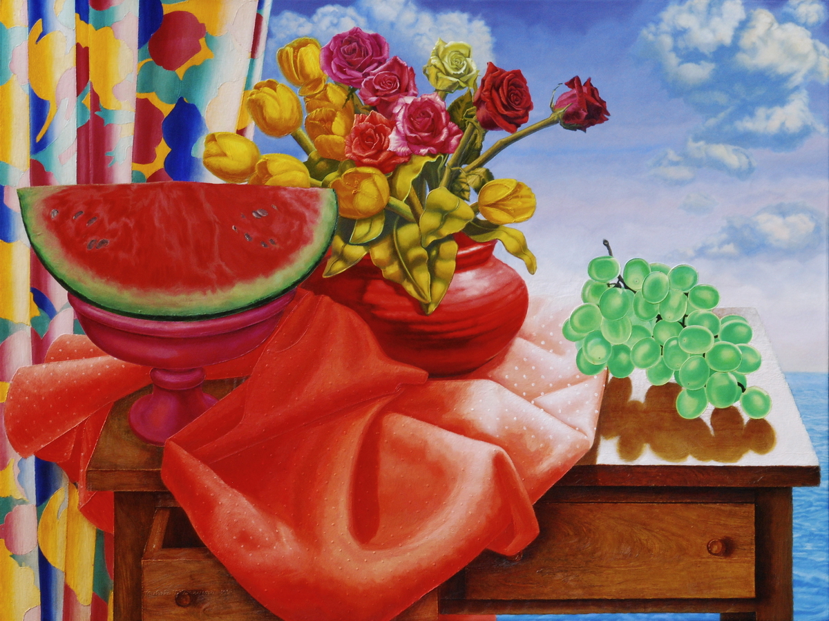 Still Life With Watermelon And Grapes (large view)