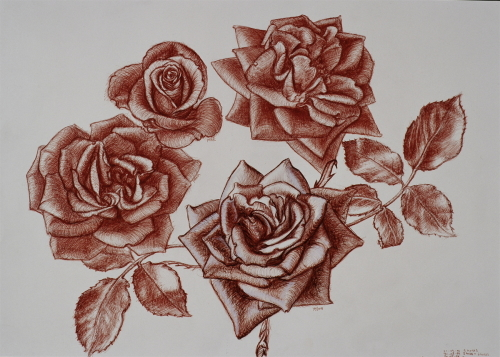 Four Roses by Michela Mansuino