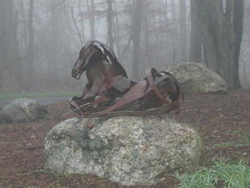 reclining horse