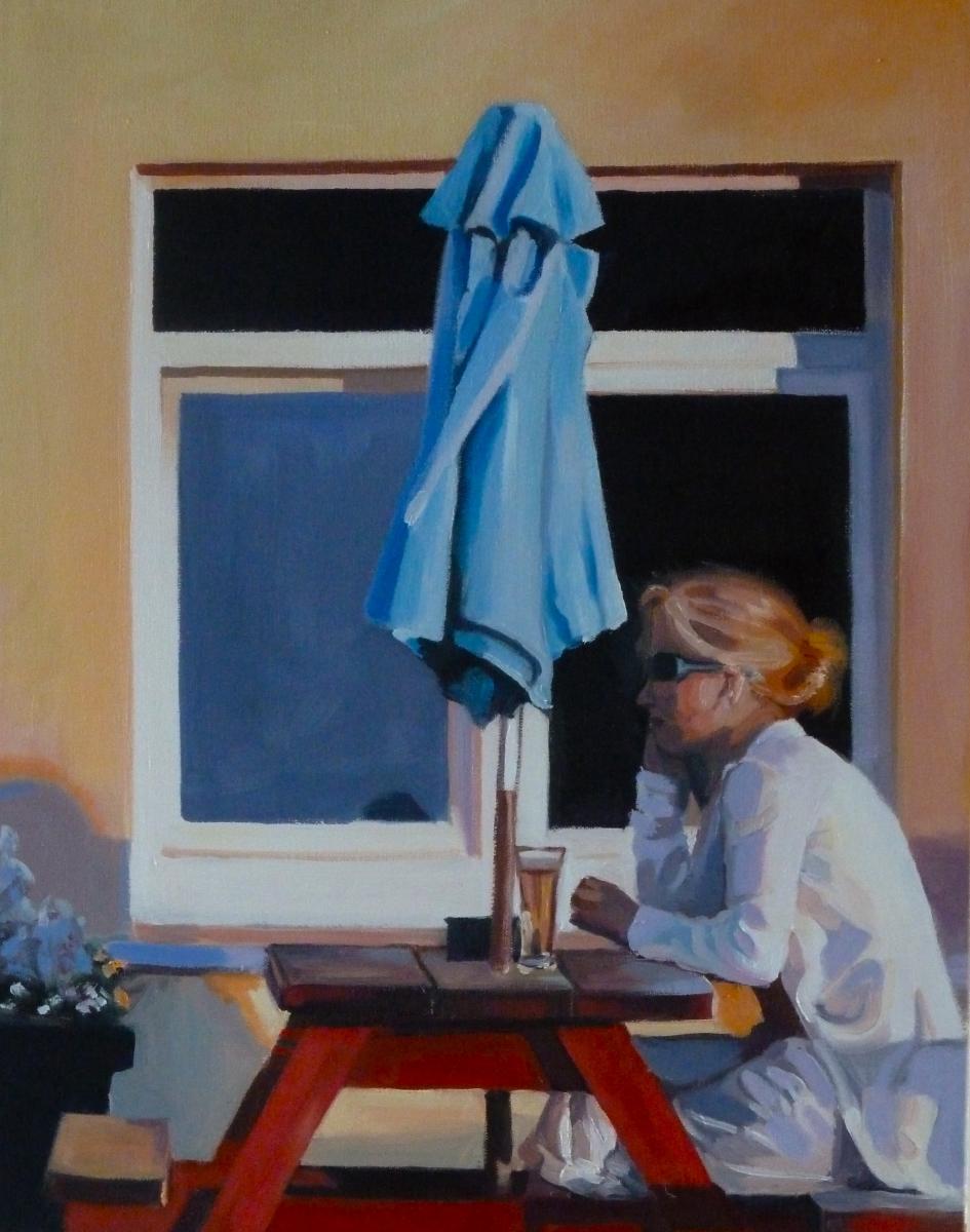 Rosie (Blue Umbrella) by Martha J Dixon (large view)