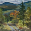landscape Maine mountains; logging road; autumn (thumbnail)