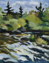 11x14 oil on canvas; landscape (thumbnail)