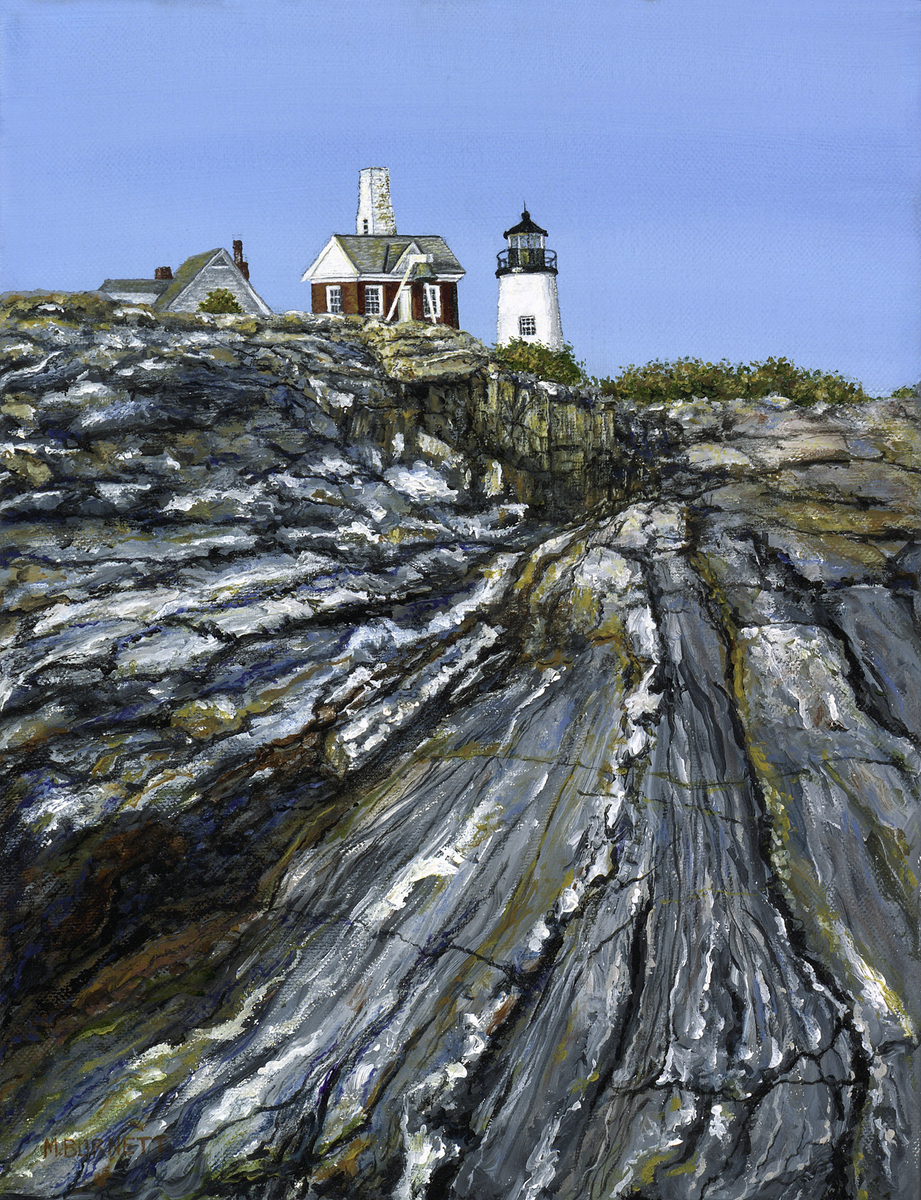 Pemaquid Point Lighthouse and Bell House (large view)