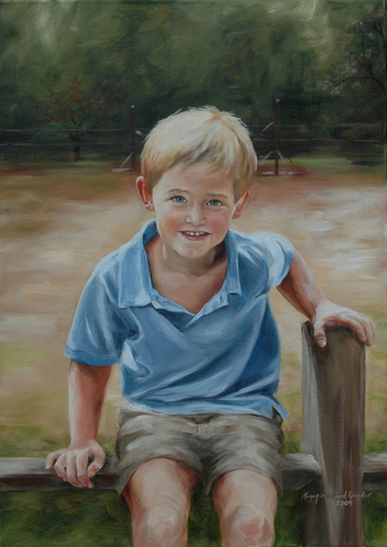 Portrait of Russell, age 5