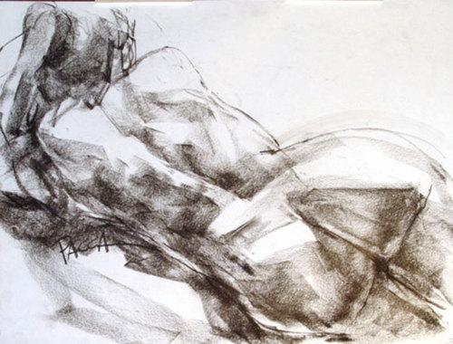BACKVIEW JOAN RECLINING by Maria Pacca