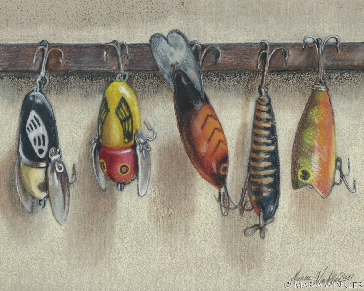 Five Old Lures (large view)