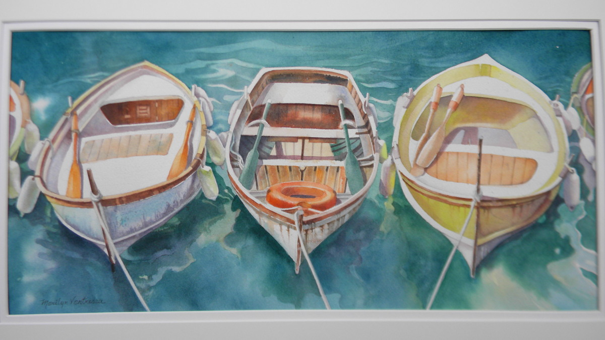 """Three Boats in Cinque Terre"" (large view)"