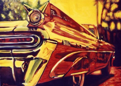 1959 Pontiac Bonneville by Paintings by Mark Peterson