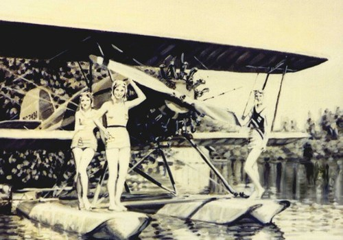 Float Plane on Armour Lake,1933