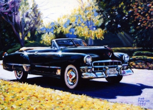 1948 Cadillac convertible by Paintings by Mark Peterson