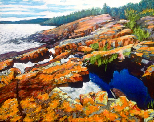 Grand Marais I by Paintings by Mark Peterson