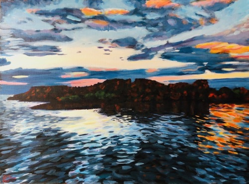 Grand Marais Bay by Paintings by Mark Peterson