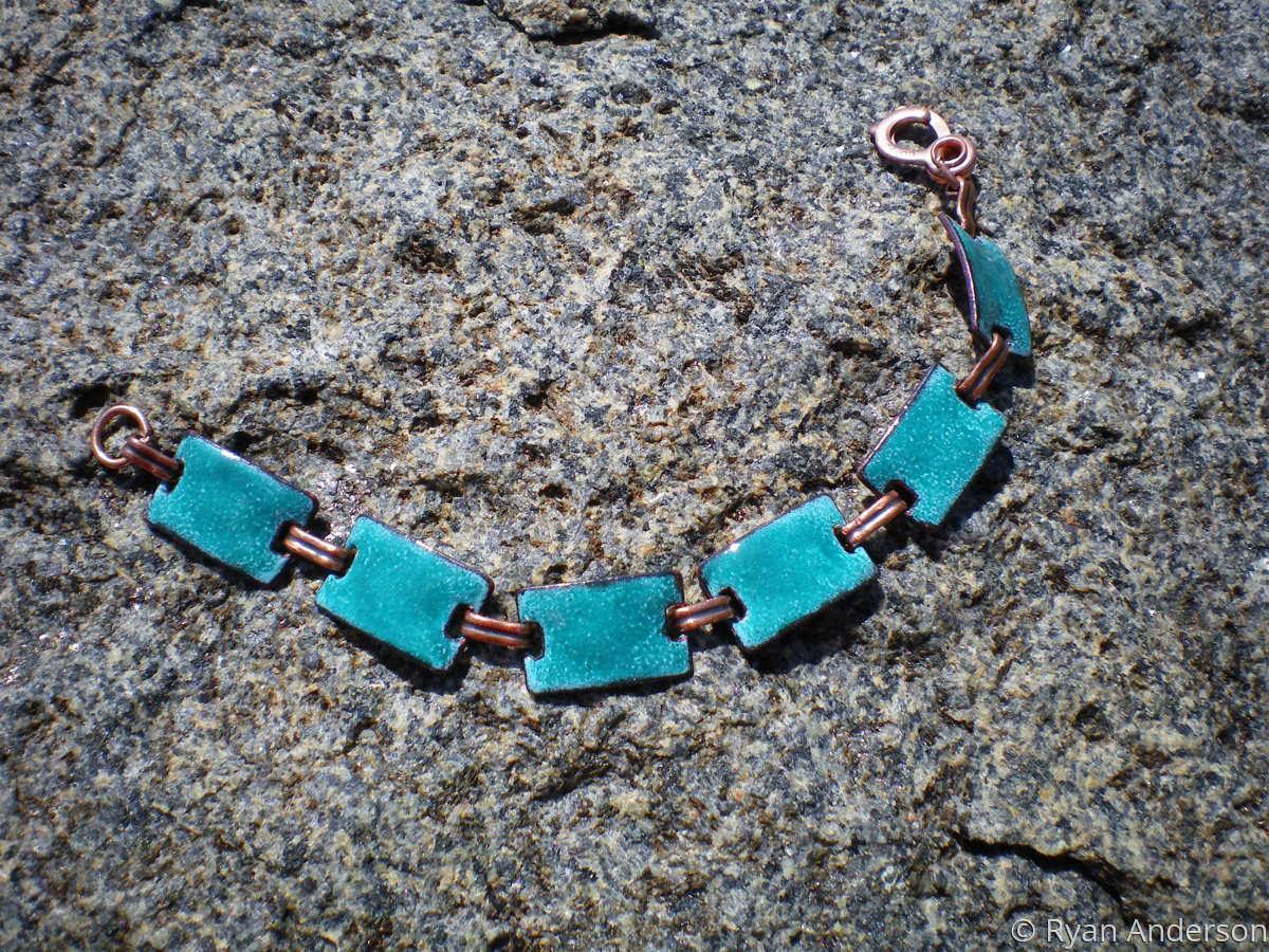 Linked Enamel Bracelet (large view)