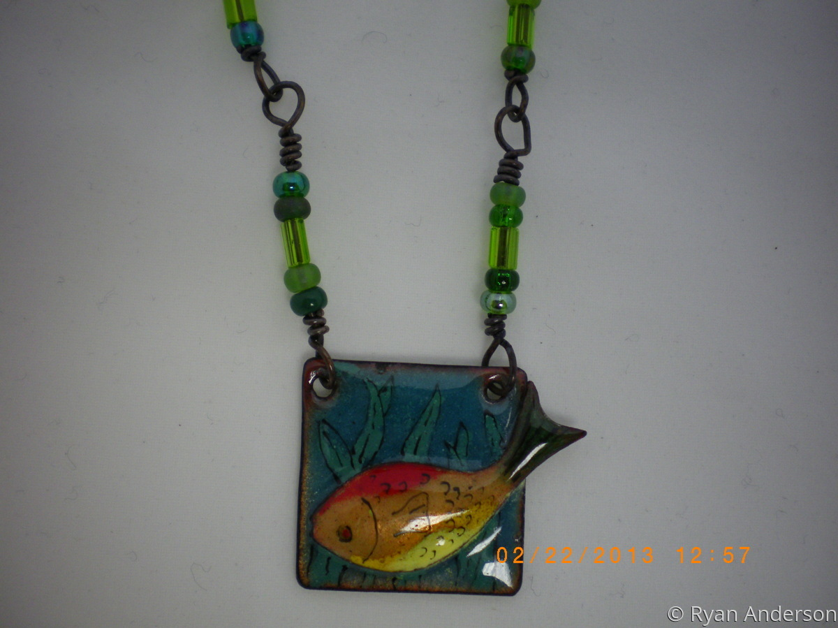 Fish Pendant Necklace (large view)