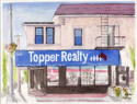 Topper Realty in Pen and Ink and Watercolor (thumbnail)