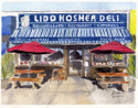 Lido Deli in Pen and Ink and Watercolor (thumbnail)