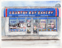 Country Boy Bakery in Pen and Ink and Watercolor (thumbnail)