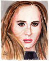 Adele in Watercolor (thumbnail)